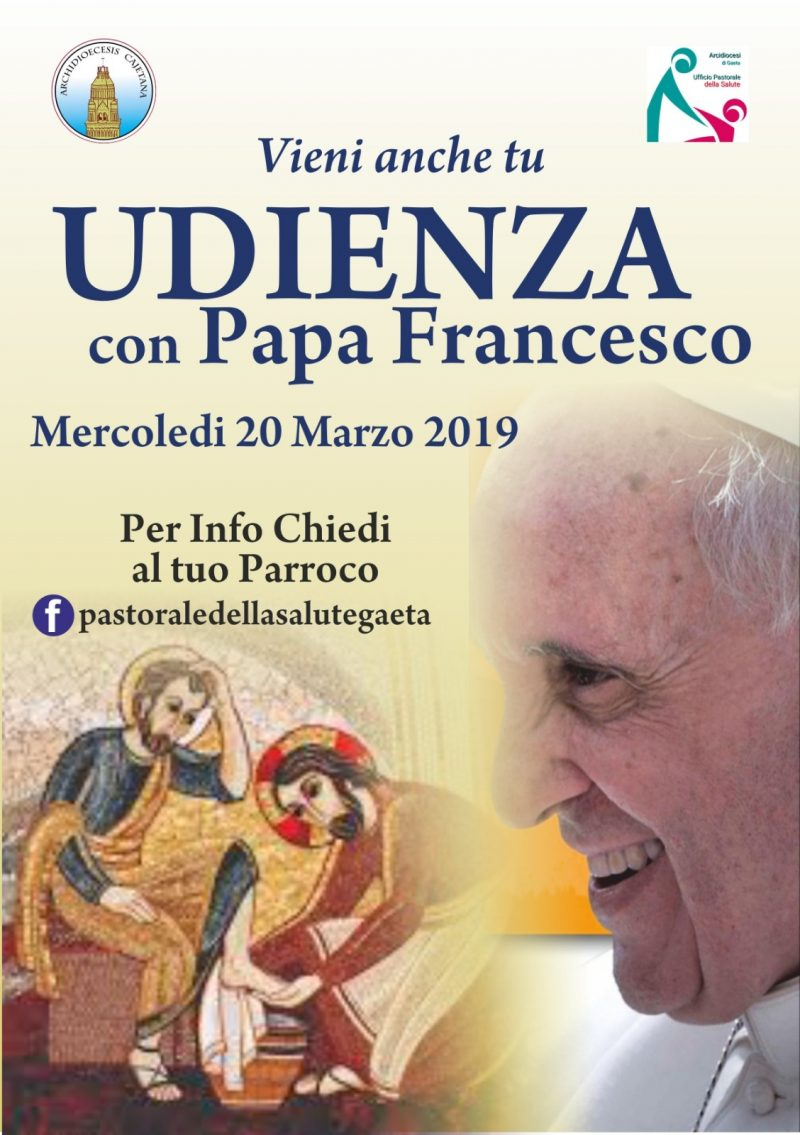 Pastorale salute udienza papa Francesco 2019
