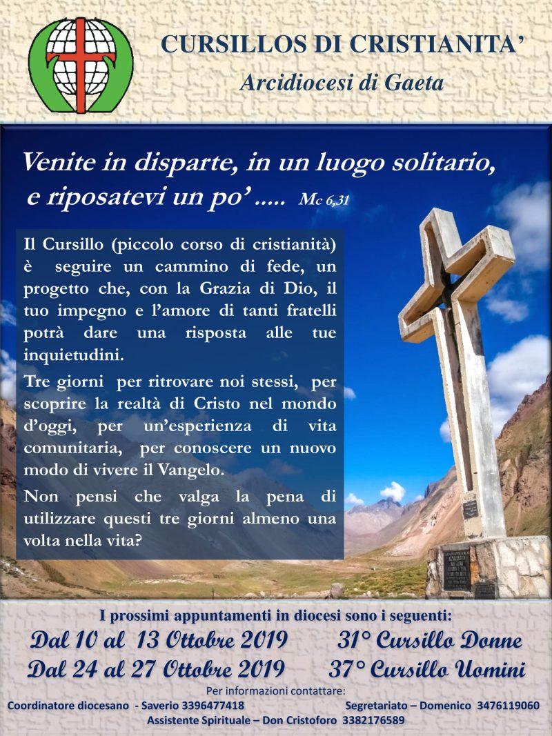 Cursillo 2019 arcidiocesi Gaeta