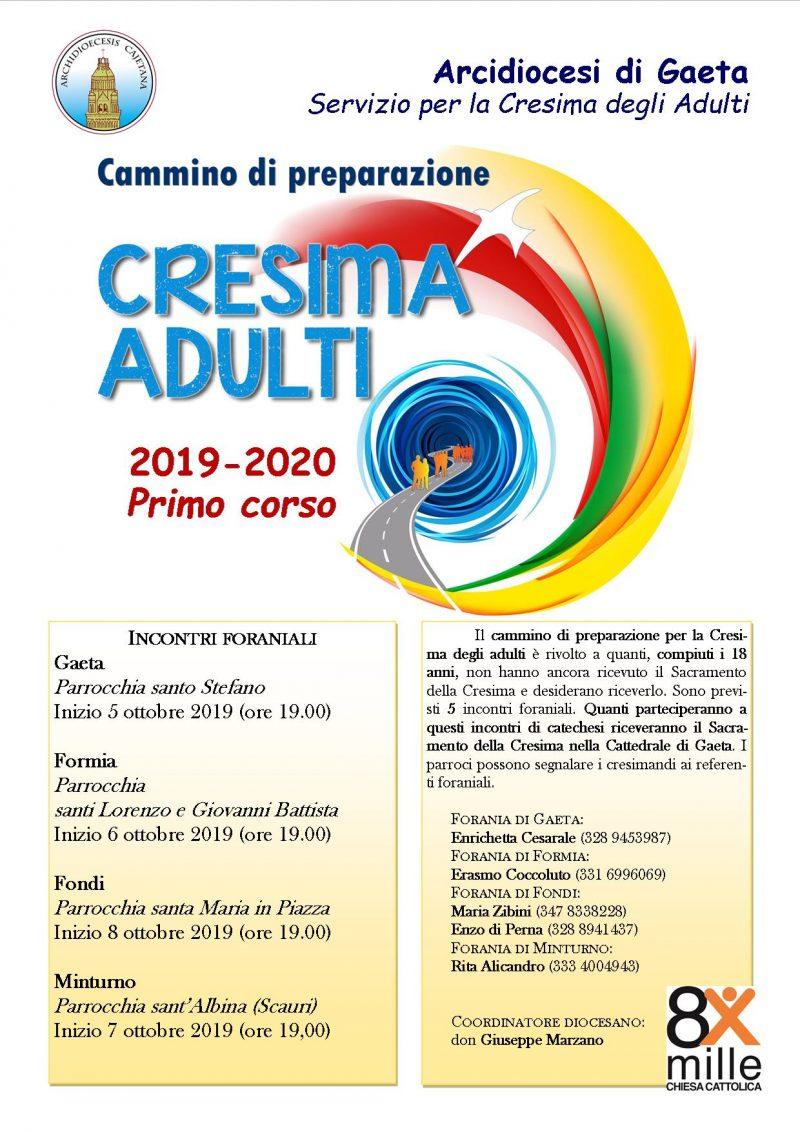 Calendario Pastorale 2020.Cresime Degli Adulti I Corsi Dell Anno 2019 2020