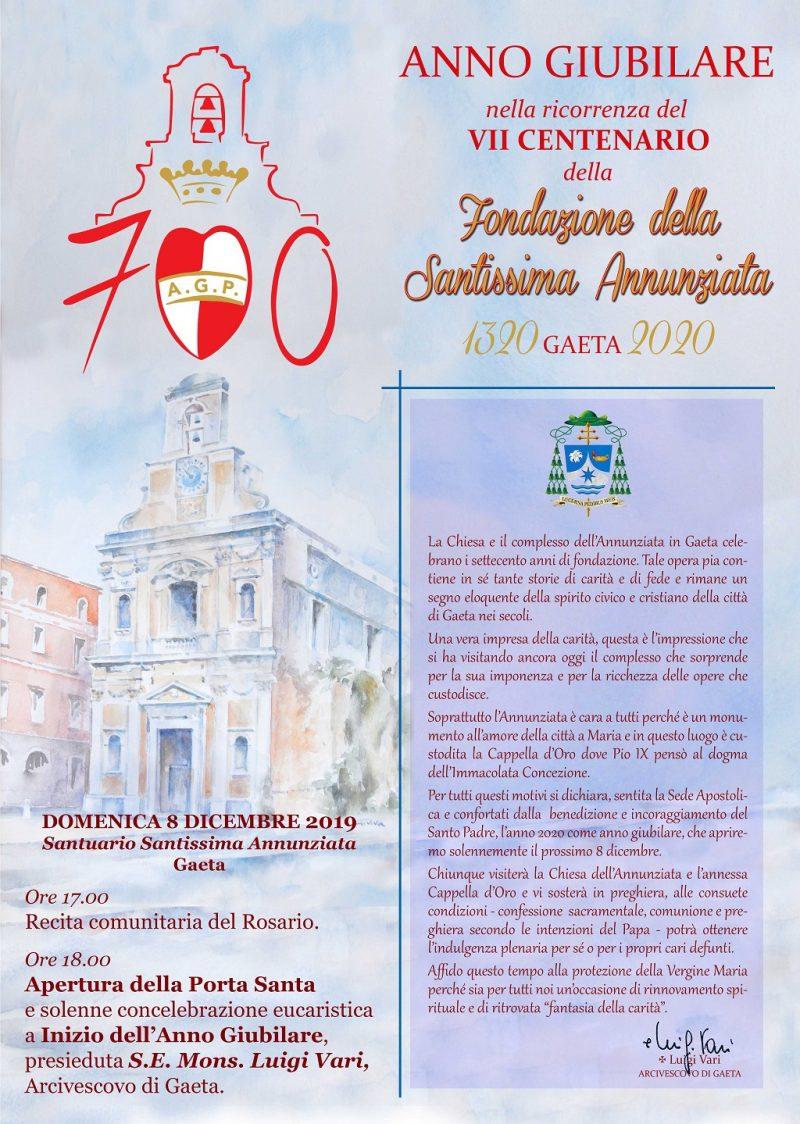 Gaeta Anno Giubilare Annunziata VII centenario ridotto