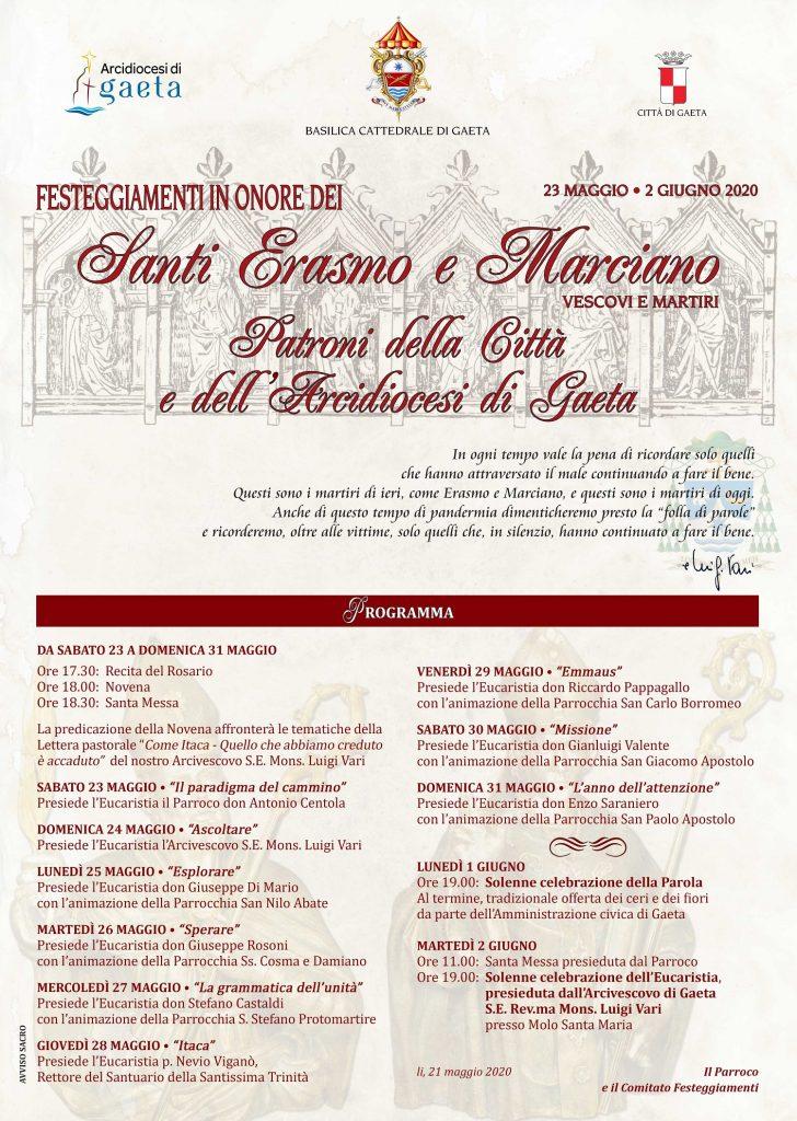 Gaeta Festa Santi Erasmo e Marciano 2020